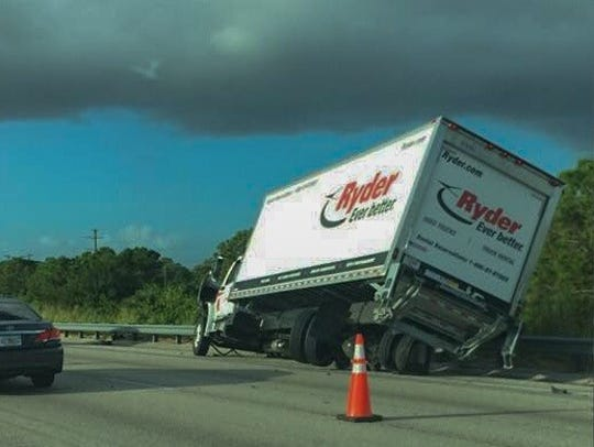 Accident on southbound I-95 in Melbourne.