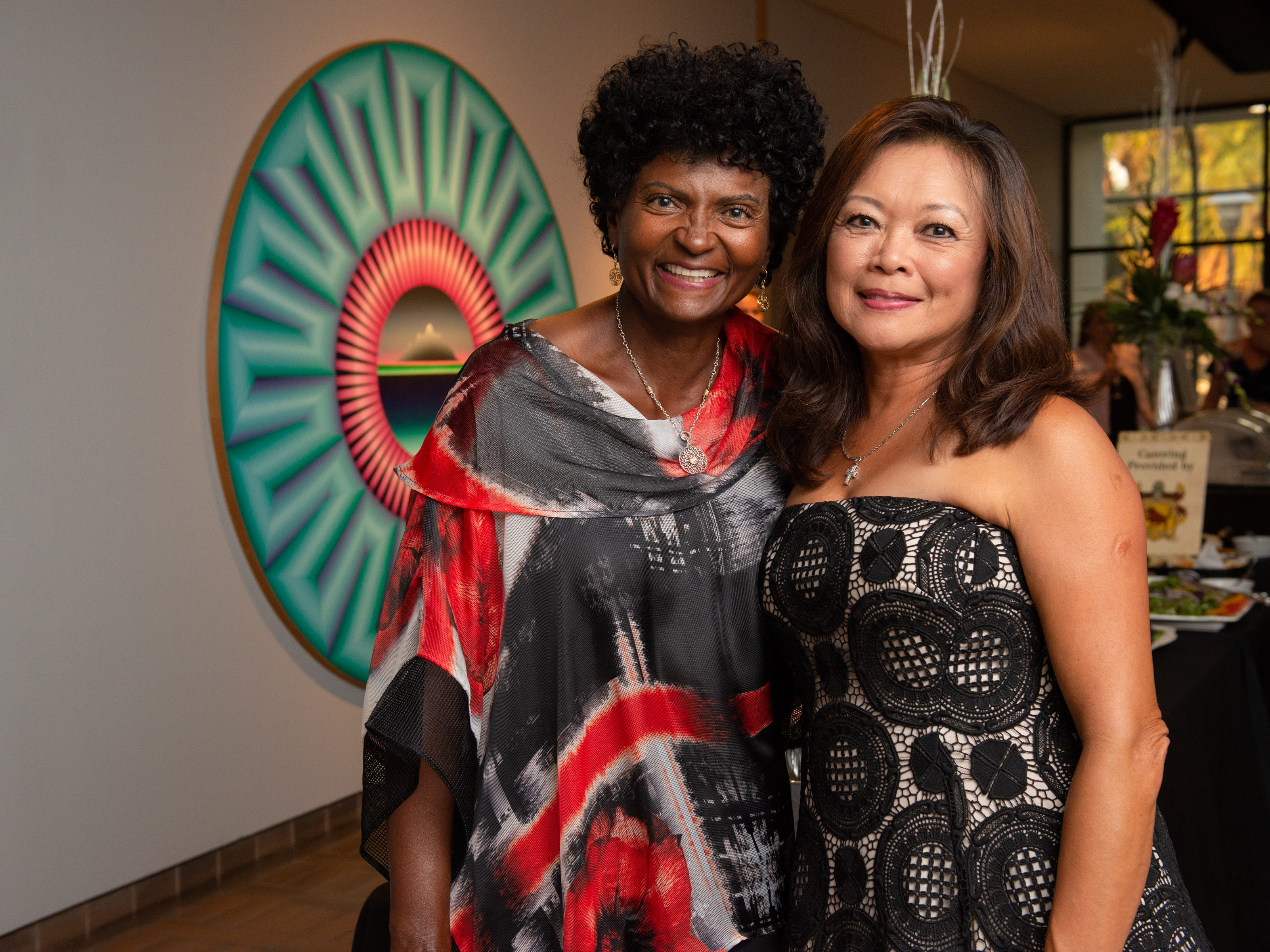 "Marilyn Scott and Lucy Currie during an ""Evening of Arts"" at the Foosaner Art Museum."