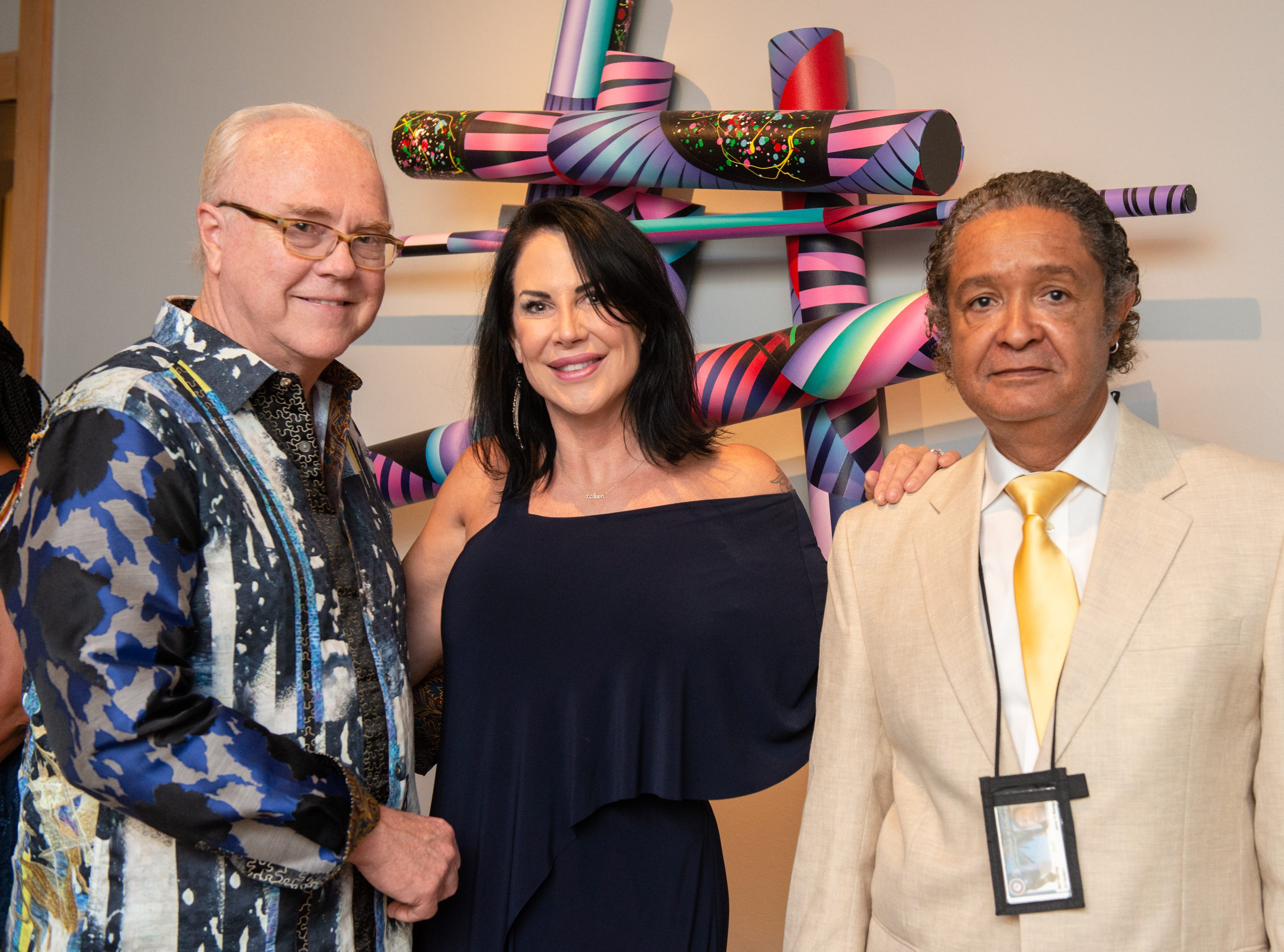 "David Russell, Sandra Dee Russell and Jose Marquez during an ""Evening of Arts"" at the Foosaner Art Museum."