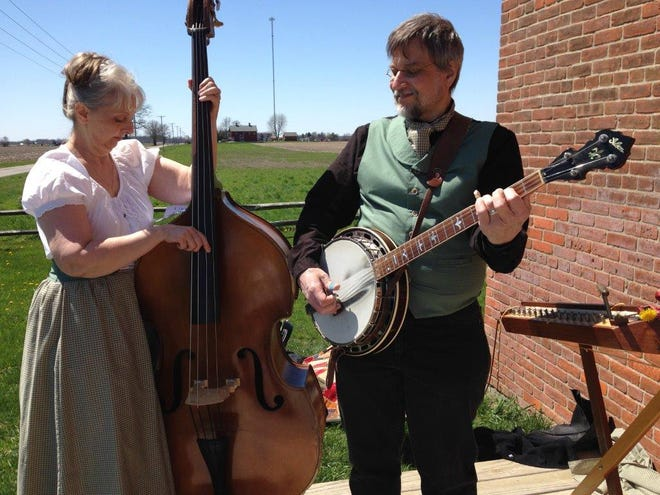 """Chris and Joe Steiner, the """"Old Time Duo"""" will liven festivities planned for the weekend dedication of the Toledo and Ohio Central Depot."""
