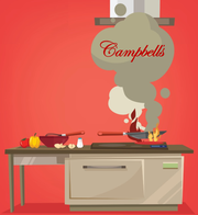 A dissident shareholder's letter to Campbell Soup investors included an illustration that mocked the firm's performance.