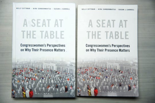 "Rutgers-Camden professor Kelly Dittmar, co-wrote the book,  ""A Seat at the Table: Congresswomen's Perspective on Why Their Presence Matters"","