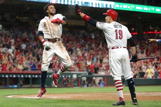 070318 Reds Cincinnati Reds Baseball Cincinnati Reds Vs Chicago White Sox