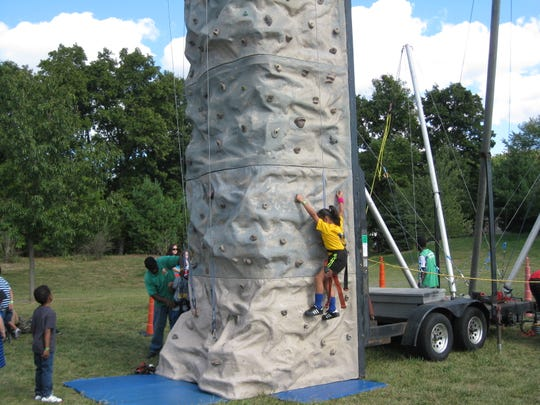 Kid-friendly rock climbing is a favorite at North Brunswick Heritage Day.