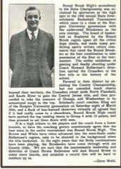 Howard Bollerman coached the 1937 Bound Brook High School boys basketball team.