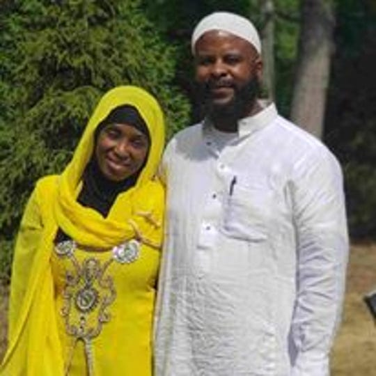 Detric Driver, 46, also known as Abdullah Abdul Muhaimin or Abdullah Beard, with his wife.