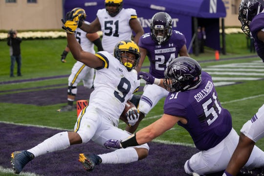 Wide receiver Donovan Peoples-Jones and the Wolverines were down 17-0 early in the second quarter before rallying to beat Northwestern last Saturday, 20-17.