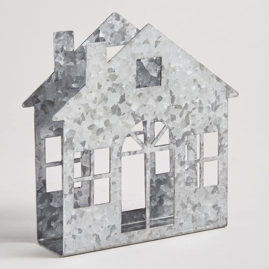 Galvanized  House Napkin Holder