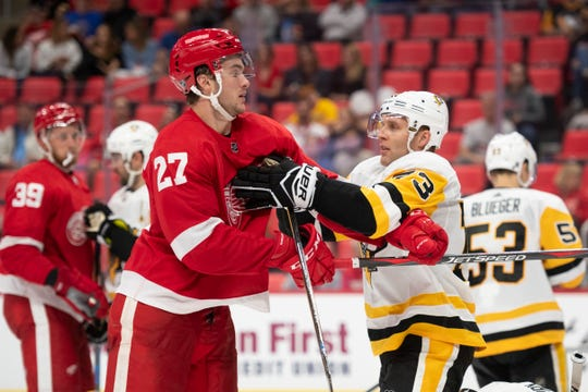 Center Michael Rasmussen leads a group of rookies that should make an impact for the Red Wings this season.