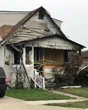 """The fire ravaged house of Jasmina and Slavoljub """"Steve""""  Radosavacs  on Nevada Street in Eastpointe."""