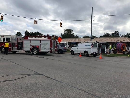 A major gas main break has closed traffic at Woodward Avenue and 12 Mile Road.