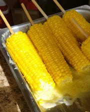 Corn on the cob from the University of Southern Indiana Art Club corn booth.