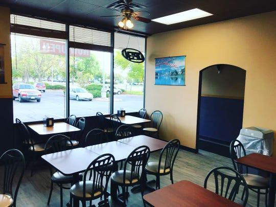 The interior at a new fast food restaurant in Fort Collins called Asiana Foods.