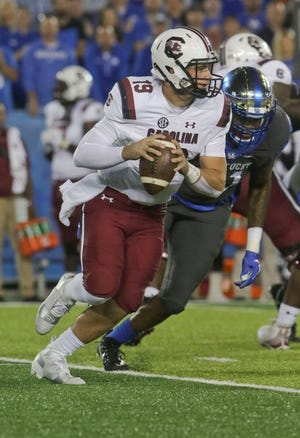 South Carolina quarterback Jake Bentley suffered what was called a minor knee injury last week against Kentucky and was replaced by senior backup Michael Scarnecchia in the fourth quarter.