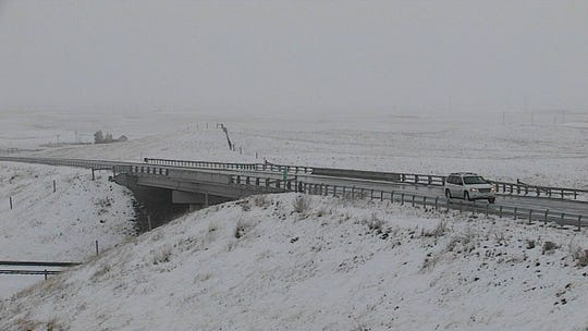 An early season storm moved across the northern Rocky Mountain Front Tuesday including U.S. Highway 2 near Browning.
