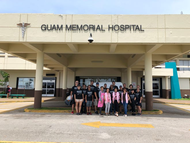 Over 20 employees from Triple J Ford, along with representatives from the Guam Memorial Hospital Volunteers Association, took part in a service outreach on Sept. 29. The outreach involved various activities such as labor services (exterior of hospital) and caring for patients in hospital wards.