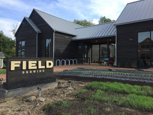 Vegetable gardens front Field Brewing, 303 E. Main St., Westfield. The family-friendly brewery and restaurant opened Oct. 1, 2018.