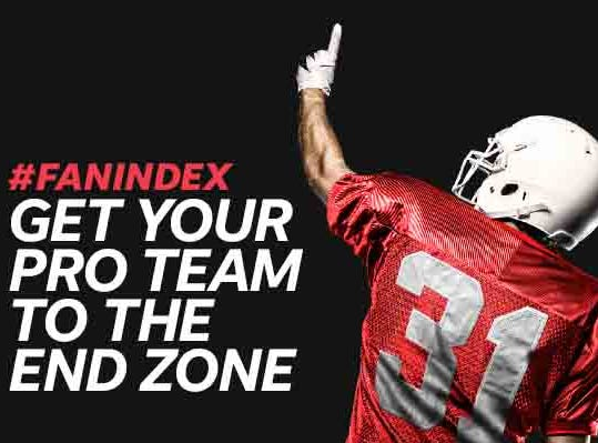 From pregame to in-game, vote on the best fan experiences using #FanIndex and your #TeamName.