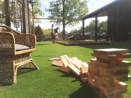 Play bocce,  Jenga and a giant Connect 4 on the family friendly activity lawn at Field Brewing, 303 E. Main St., Westfield. The family-friendly brewery and restaurant opened Oct. 1, 2018.