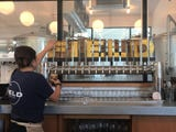 Field Brewing is a big, bright, kid-friendly  restaurant with a huge patio, lots of games, fun-to-share food and impressive craft beer.