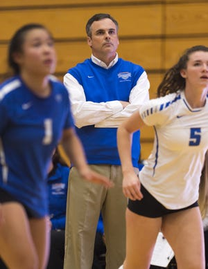 Hamilton Southeastern volleyball coach Jason Young thinks he has the team to win state this year.