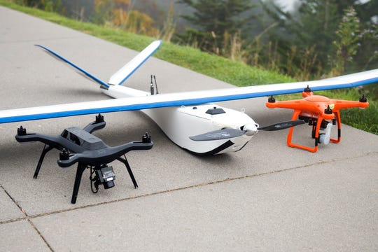 """Drones with ORNL assisted in the search for Mitzie Sue """"Susan"""" Clements in the Great Smoky Mountains National Park on Tuesday, Oct. 2, 2018."""