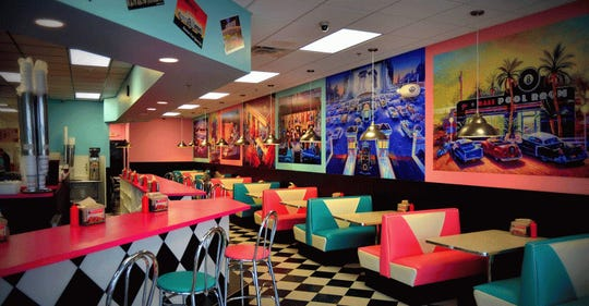 Booths, four-top tables and counter seating are available at most Highway 55 restaurants.