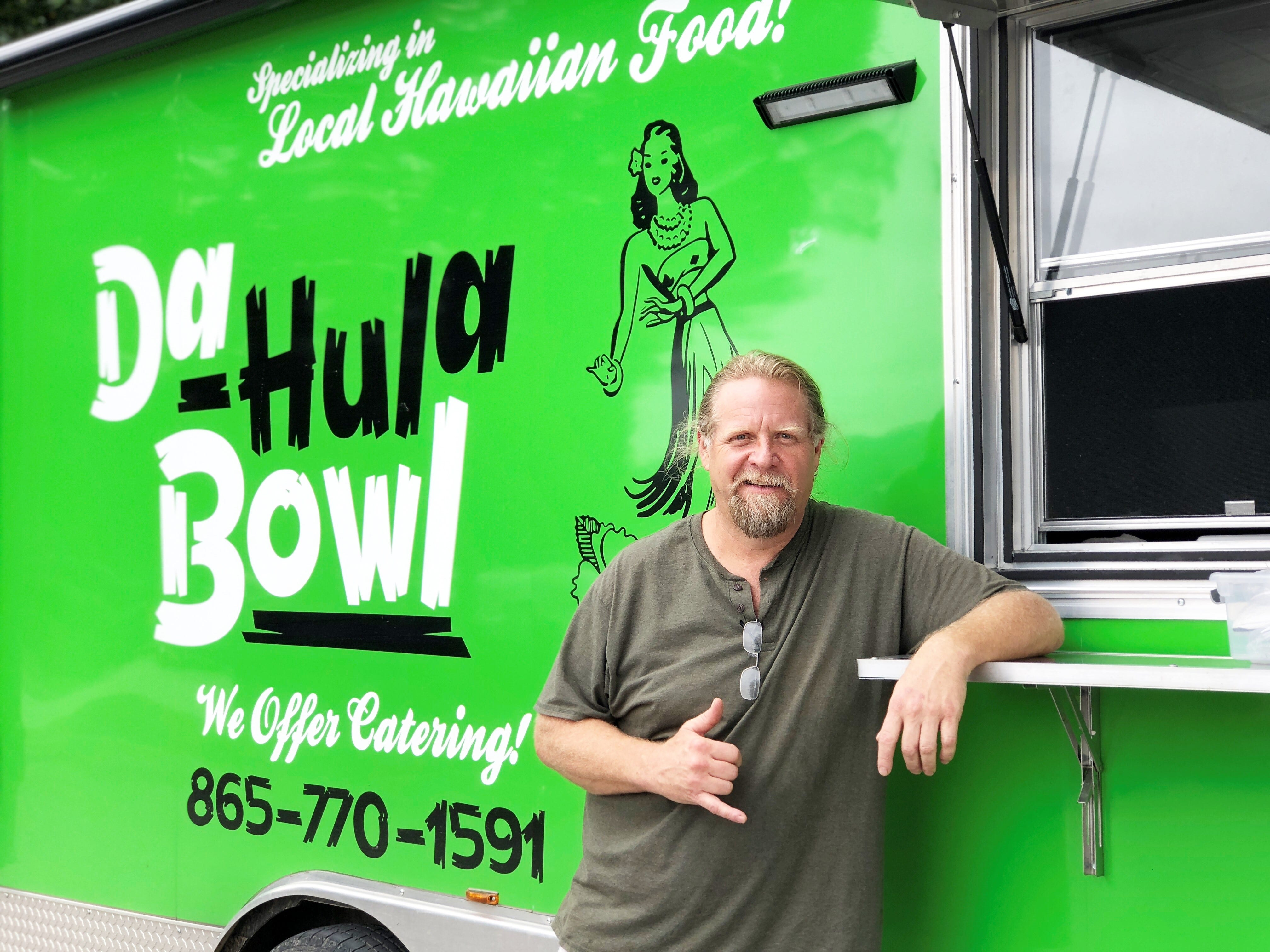 Todd Hager, outside Da Hula Bowl food truck on Sept 28, 2018.