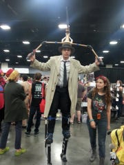 Justin Webb of Knoxville dresses as Inspector Gadget at a convention.