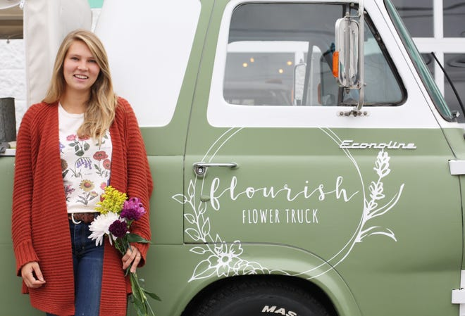 """""""This whole thing started from a really tough place in my life,"""" said Flourish Flower Truck owner Savannah Pannell. """"It seemed there were a lot more hard days than good days. This season of life challenged me to create something that could be used as a tangible glimpse of hope, love, and kindness in anyone's situation. I think flowers are able to do just that."""""""