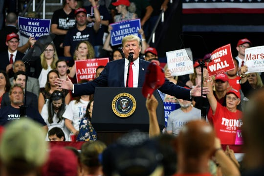 President Donald J. Trump's Make America Great Again Rally for Marsha Blackburn Monday, October 1, 2018 in Johnson City.