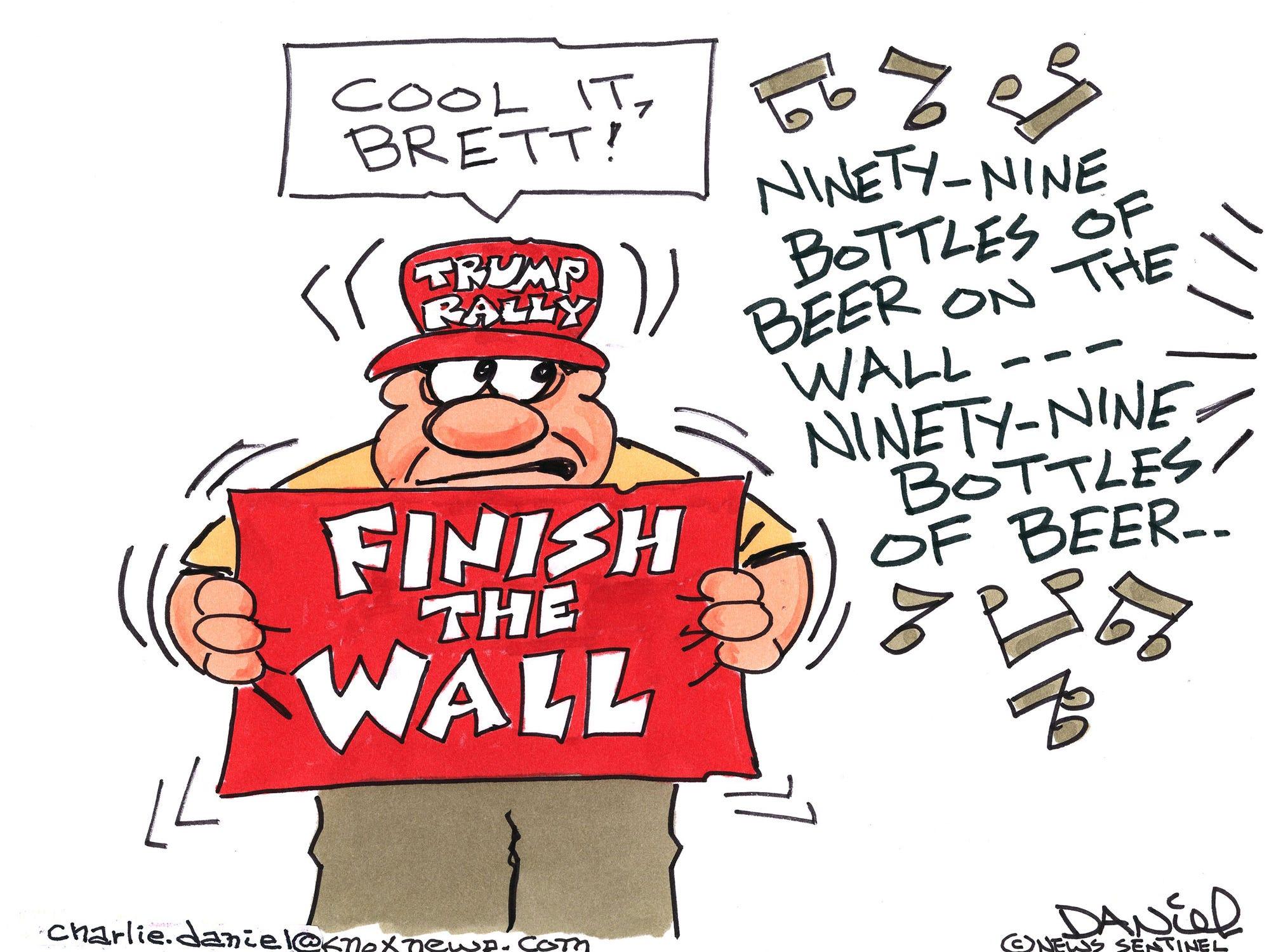 Charlie Daniel cartoon for Wednesday, Oct. 3, 2018.