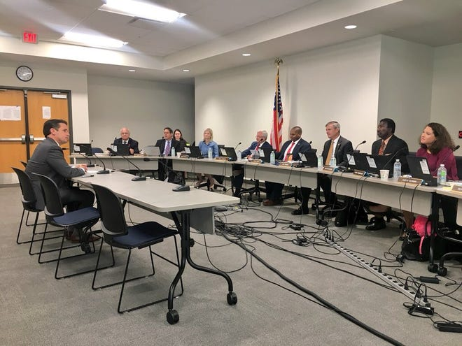 JCPS Superintendent Marty Pollio spoke to the Kentucky Board of Education in October 2018.