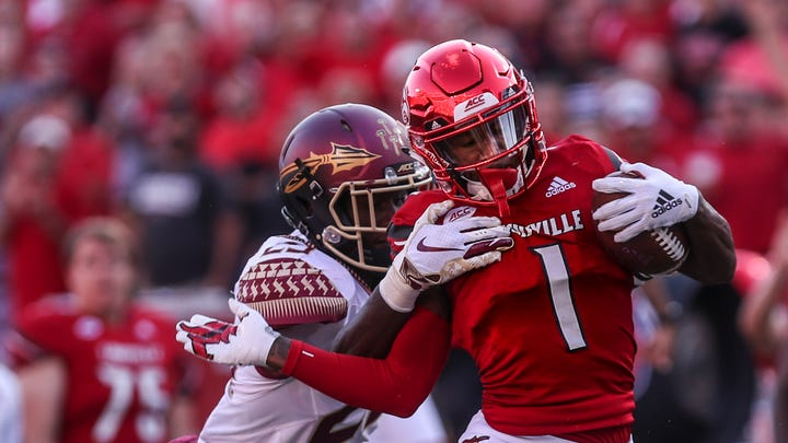 Louisville football's speedy wide receiver Tutu Atwell is too, too fast