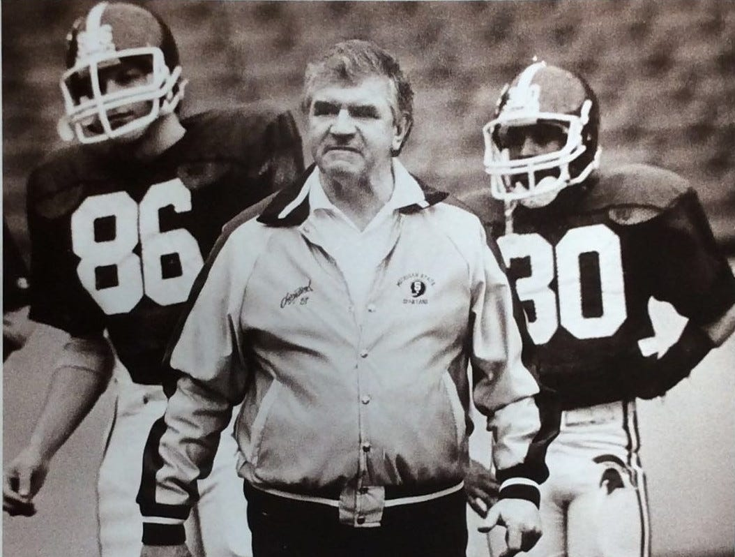 MSU Football Coach George Perles, undated photo.