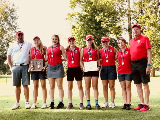 After losing last year's district title by a scorecard tiebreaker to Lima Central Catholic, the Shelby Whippets exacted revenge on Monday, winning the championship by six strokes.