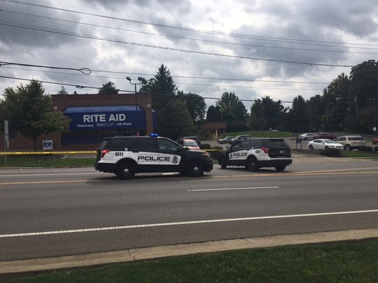 The Mansfield Police Department investigated a shooting at Trimble Road and Park Avenue West on Tuesday, Oct. 2, 2018.