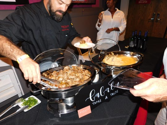 In addition to wine tastings, guests at Science of Wine can enjoy food prepared by 12 Memphis restaurants.  At each food station, a perfect wine pairing is suggested.