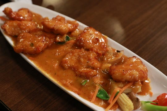 Rainbow Panang Curry with Chicken at the Mosa Asian Bistro