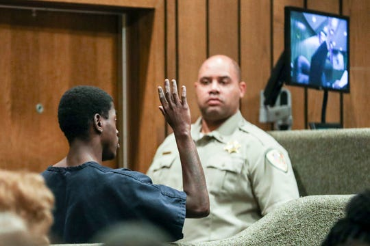 October 02 2018 - McKinney Wright Jr., 22, appears inside of General Sessions Court Division Seven with Judge Bill Anderson on Tuesday.