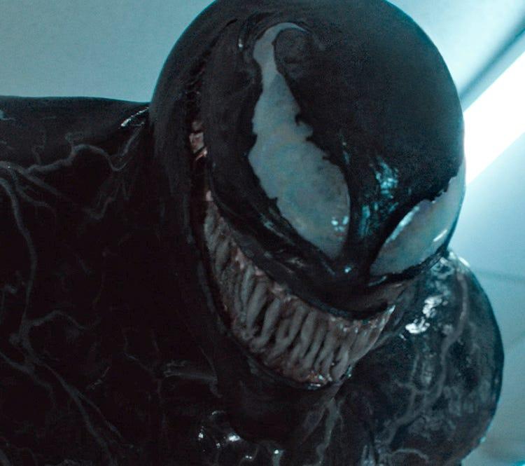 "Tom Hardy plays Spider-Man villain Venom in ""Venom."""