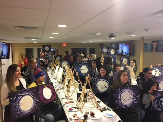 Painting with a Twist offers public events and can also be reserved for a variety of gatherings such as birthday parties and bachelorette parties.