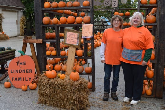 Diane Lindner and Linda Schlieper have known each other since they were 5. Schlieper has been working at Lindner's farm for three years, but has been going to it since it opened over 20 years ago.
