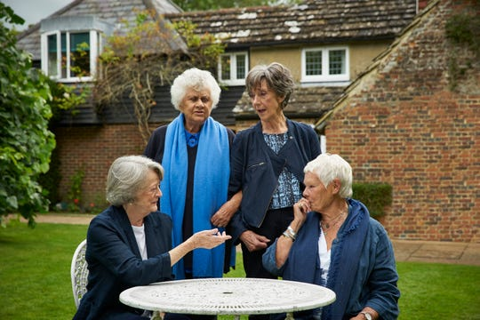 """Maggie Smith (from left), Joan Plowright, Eileen Atkins and Judi Dench dish the dirt about their lives, careers and everything else in """"Tea With the Dames."""""""