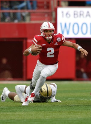 Freshman Adrian Martinez is a dual-threat quarterback for Nebraska and the Cornhuskers' most dangerous offensive player.
