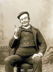 John Ringling dressed as a clown, circa 1886. The five Ringling brothers started their circus in 1882 in Baraboo.