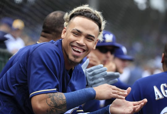 Brewers shortstop Orlando Arcia wast sent down to the minor leagues twice this season.