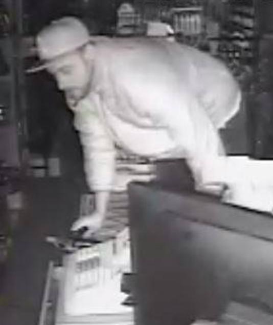 Burglar At Liquor Store