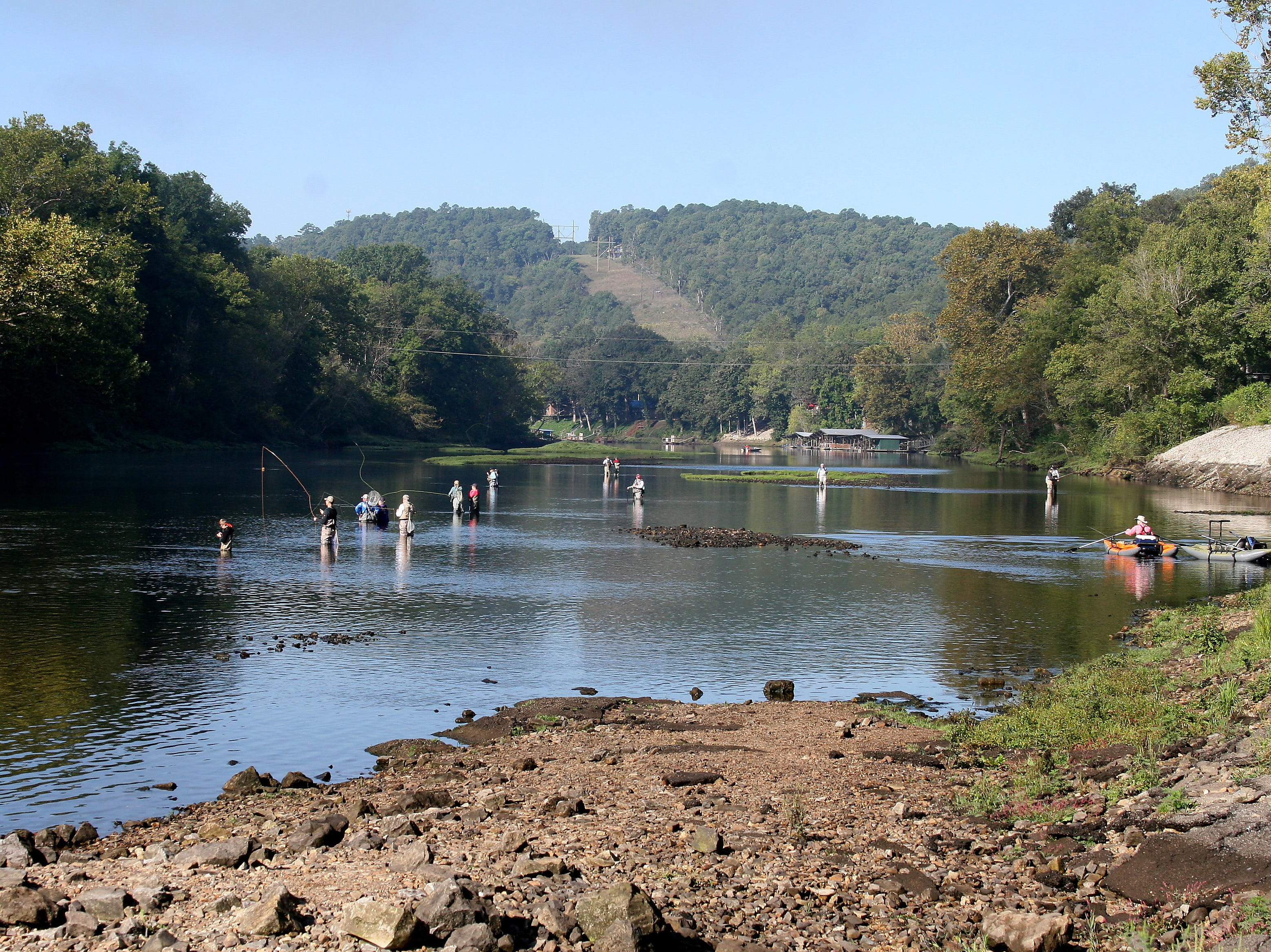 Once the early morning fog burned off, Sunday was a picture-perfect day for fly fishing.