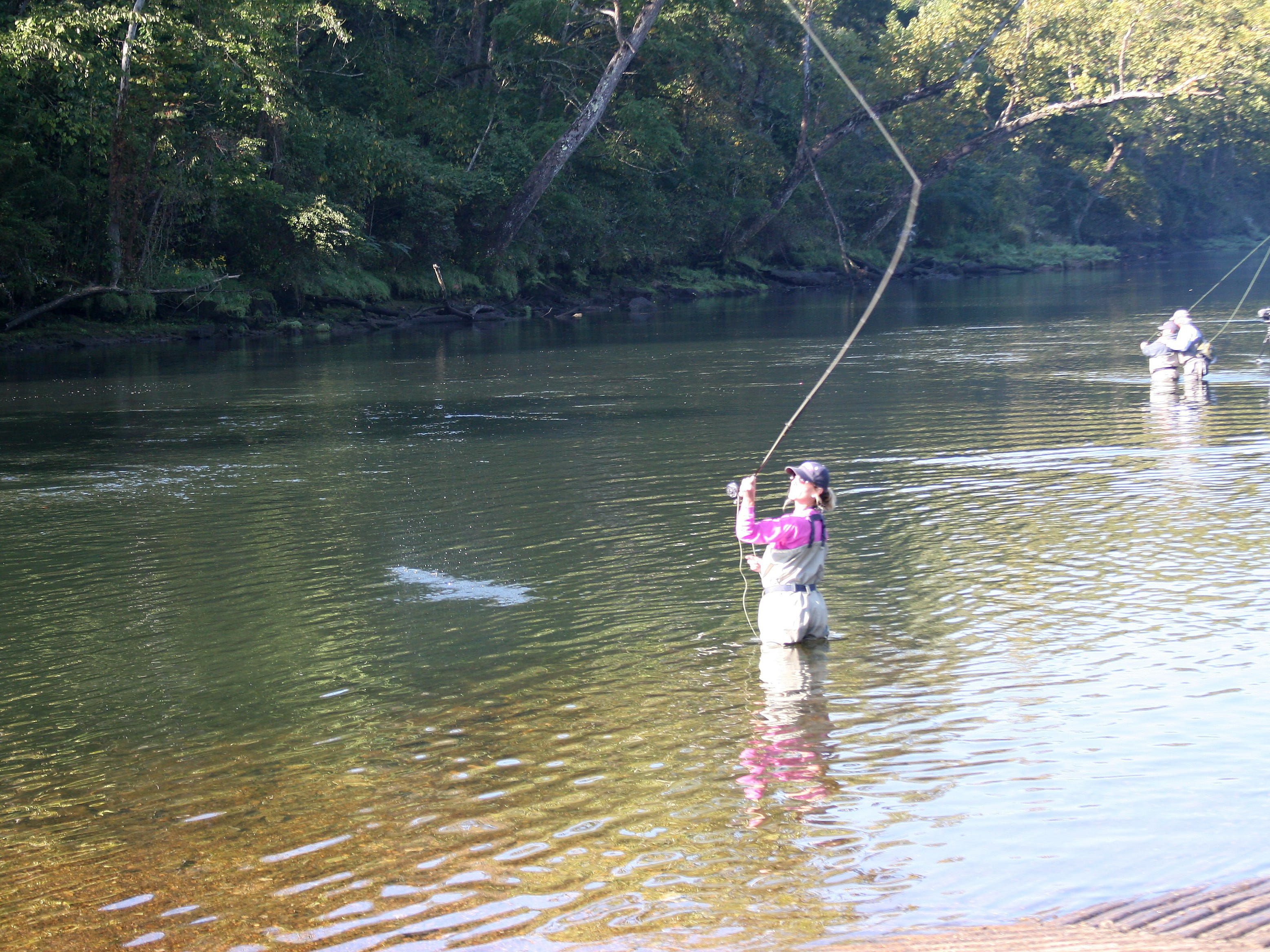 Casting for Recovery participant Jackie Bolt of Bentonville took to fly fishing pretty quickly.